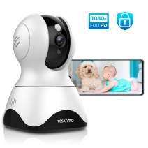 YESKAMO Dog Camera Pet Monitor 1080P HD Home WiFi Security Camera Wireless, Indoor Pan Tilt Zoom IP Camera for Dog/Pet/Elder/Baby, 2 Way Audio, Full Surveillance & Motion Tracking, Work with Alexa