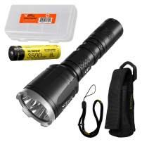 NITECORE CI7 2500 Lumen Tactical Flashlight with 7000mw 940nm Long Range Infrared IR Illuminator and NITECORE NL1835HP Battery, LumenTac Battery Organizer