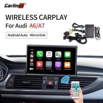 Carlinkit Wireless carplay Receiver Box Interface for Audi A6/A7 (2012-2018) Stereo System Upgrade/Google and waze maps/mirroring/Wired Android auto