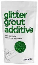 Hemway (Emerald Green) Glitter Grout Tile Additive 100g for Tiles Bathroom Wet Room Kitchen   Easy to use - Add/Mix with Epoxy Resin or Cement Based Grout   Temperature Resistant
