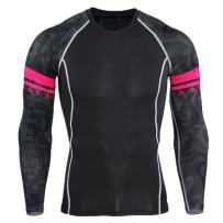 Fanii Quare Men's Quick-Dry Sports Tights Long Sleeve Compression Activewear T-Shirt