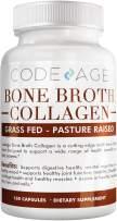Codeage Organic Bone Broth Collagen Capsules Grass Fed - Pasture Raised Chicken Bone Broth Collagen - 180 Capsules