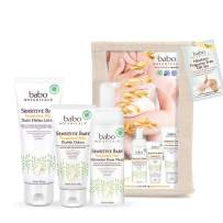 Babo Botanicals Newborn Fragrance-Free Gift Set, Essential Set with Natural Oat and Organic Calendula, Hypoallergenic, Perfect Baby Shower Gift - 3-Pack