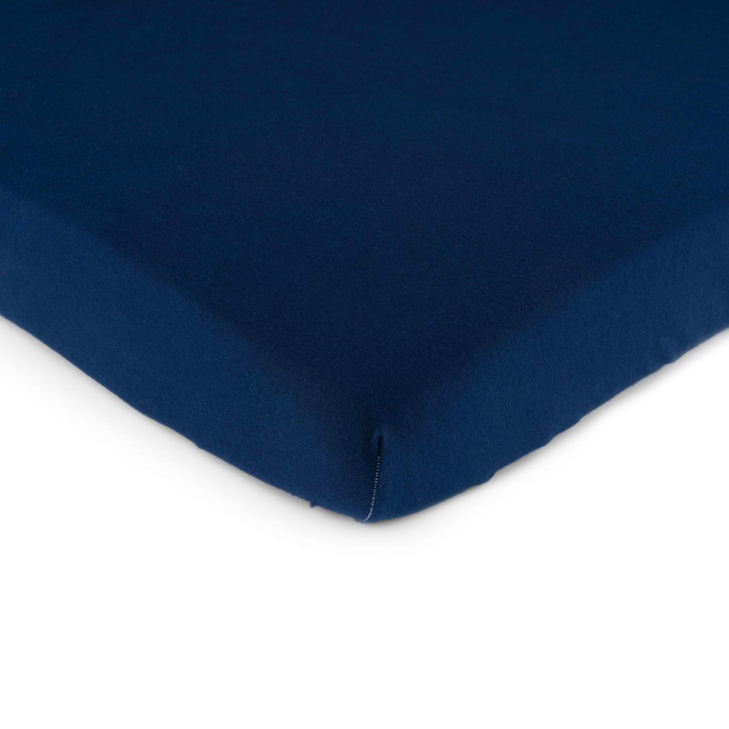 SheetWorld Fitted Bassinet Sheet - Solid Navy Jersey Knit - Made In USA, 15 x 33