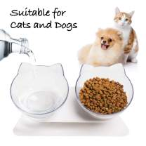 WANTKA Cat Bowl Dog Bowl Pet Stainless Steel Cat Food Water Bowl Non-Slip Rubber Base for Small Dogs Cats Animals