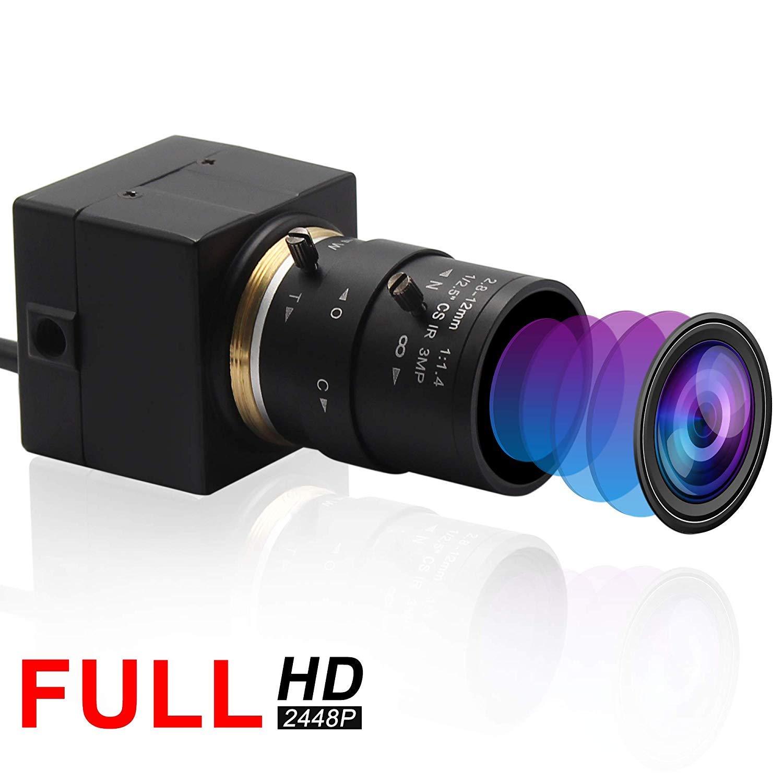 Varifocal Lens USB Webcam Mini Camera 2.8-12mm 8 Megapixel Sony IMX179 USB with Cameras High Definiton 3264X2448 USB2.0 Webcamera,Usb Computer Webcam Support Most OS/UVC Protocol/Most OS/Free Driver