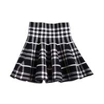 Mesinsefra Little Big Girls' High Waist Knitted Flared Pleated Skirt Casual