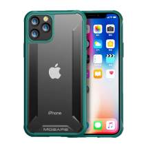 Mosafe for iPhone 11 Pro Case, Heavy Duty Protection Soft Scratch-Resistant & Anti-Fingerprints Back Cover Case Rugged Clear Shockproof Bumper Case for iPhone 11 Pro 5.8 Inch(Green)
