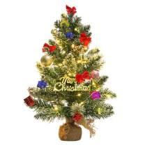 TERUNPU 23 Inch Mini Christmas Tree Tabletop Miniature Pine Tree for Christmas Decorations, Home Decor