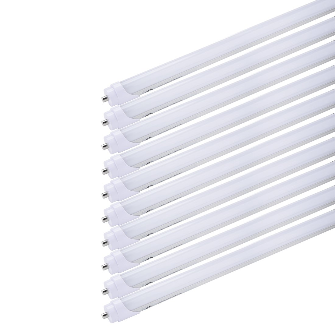 uxcell 10Pcs T8 4Ft LED Light Tube FA8 18W 4000K Neutral White, Dual-End Powered, Frosted Cover, T8 T10 T12 Fluorescent Light Replacement, LED Shop Light, UL-Listed and DLC-Qualified