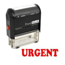 Urgent Self Inking Rubber Stamp - Red Ink