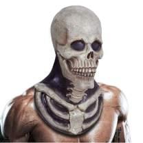 Skull Skeleton Costume Bone Chest Piece Halloween Costume Horror Evil Latex Rubber Full Head Costume