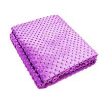 U UQUI Removable Duvet Cover for Weighted Blanket for Adults and Kids, Soft and Comfortable Minky Fabric, Plush Throw Blanket (Light Purple, 48''72'')