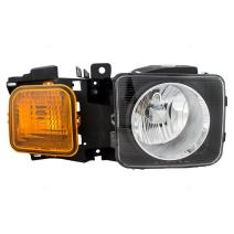 Replacement Passenger Halogen Headlight Compatible with 06-10 Hummer H3 & H3T Truck 15951164