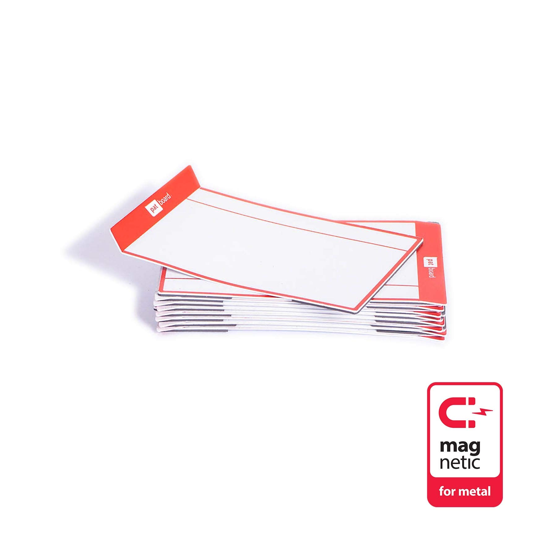 PATboard Scrum and Kanban Board Medium TASKcards Magnetic - Red