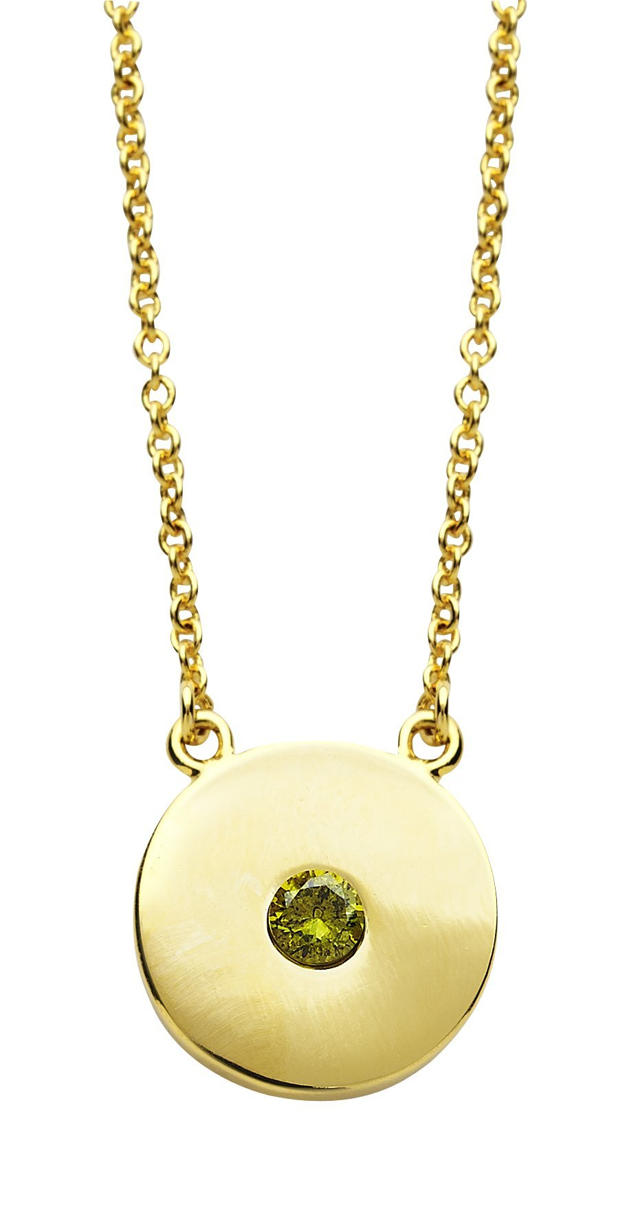 Sterling Forever Personalized Birthstone Necklace, Rhodium Plated, Gold Plated – 'You're a Gem' from