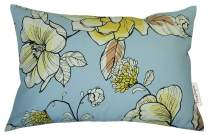 """TangDepot 100% Cotton Floral Printcloth Decorative Throw Pillow Covers, Handmade,45 Colors,19 Sizes Avaliable, Rectangle Shells, Decorative Cushion Cover - (12""""x18"""", F01 Magnolia)"""