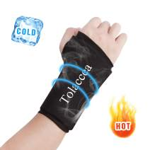 Tolaccea Wrist Ice Compression Sleeve Wrist Ice Pack Wrap Hot & Cold Therapy for Pain Relief Wrist Gel Cold Pack for Carpal Tunnel Tendonitis Injuries Swelling Rheumatoid Arthritis Bruises & Sprains