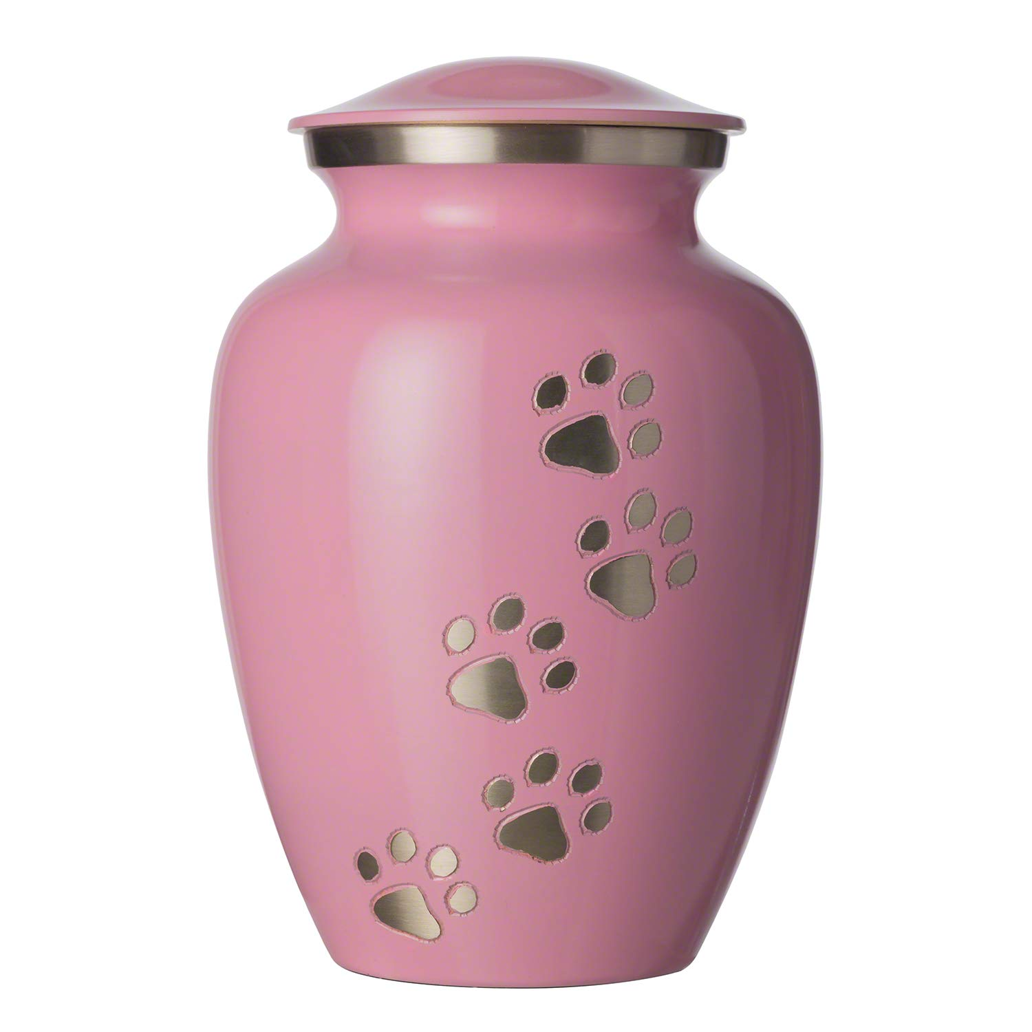 Best Friend Services Pet Urn - Ottillie Paws Memorial Pet Cremation Urns for Dogs and Cats Ashes Hand Carved Brass Memory Keepsake Urn