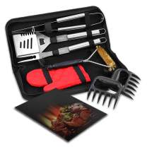 esonmus BBQ Grill Set, 7-Piece Stainless Steel Grill Tool Set Superior Grilling Accessories with Storage Case- Perfect BBQ Gift Outdoor Grill Kit for Men Women