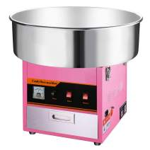 Clevr Large Commercial Cotton Candy Machine Party Candy Floss Maker Pink