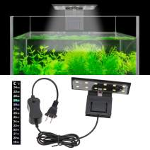 Senzeal X3 Libra Aquarium Fish Tank Light US 6W 12 LED Aquarium Planted Clip Lamp 600LM for 8-15 Inch Fish Tank White LED Lighting