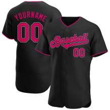 Custom Novelty Men's Button Down Short Sleeve Casual Shirts Personalized Stitched Baseball Jersey Big & Tall