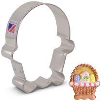 "Ann Clark Cookie Cutters Flour Box Bakery's Easter Basket Cookie Cutter, 3.75"""