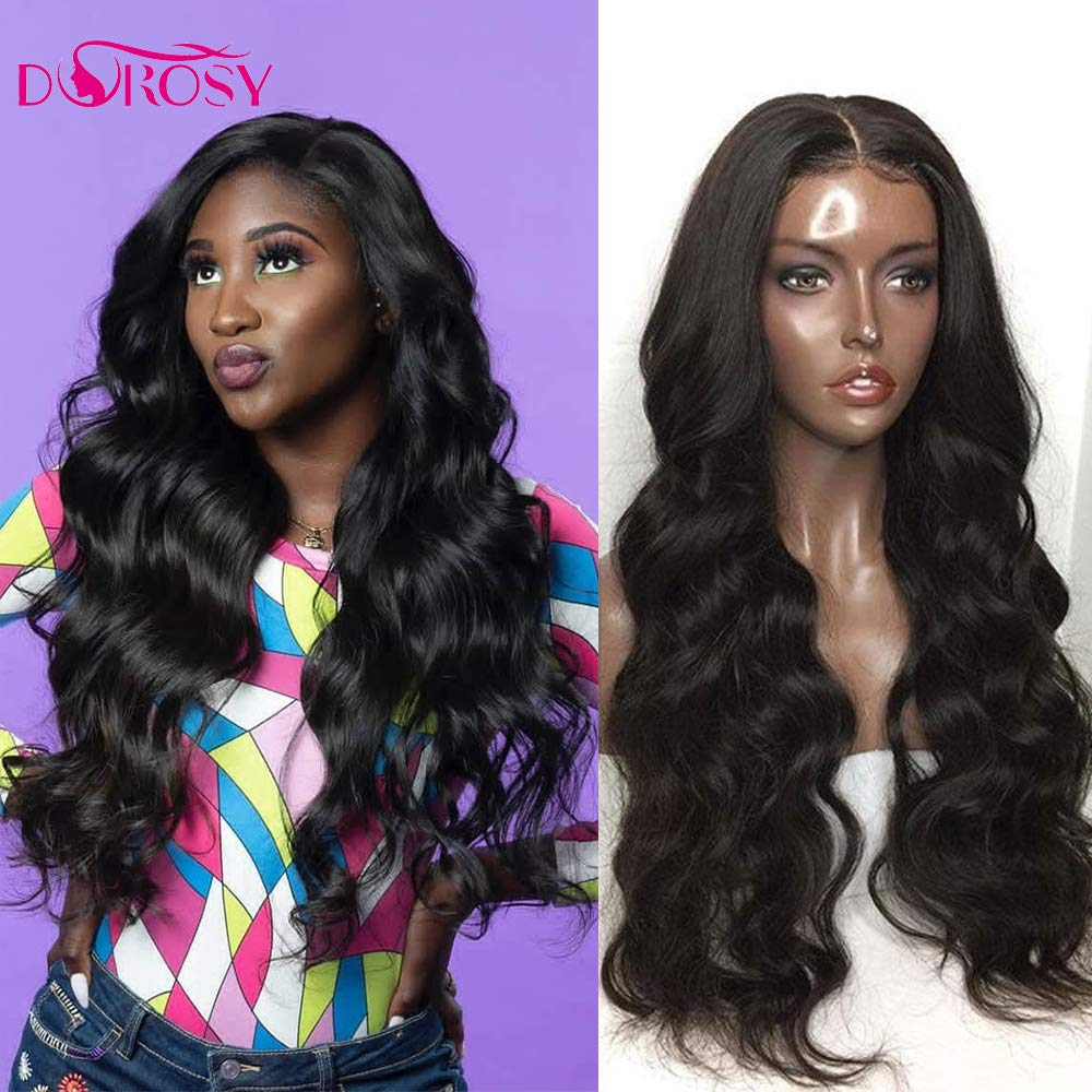 Dorosy Hair 360 Lace Frontal Wigs Free Part Body Wave Human Hair Brazilian Remy Hair Wigs Wet Wavy Lace Wigs Pre Plucked with Baby Hair(16inch with 250% density)