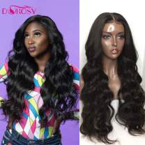 Dorosy Hair 360 Lace Frontal Wigs Free Part Body Wave Human Hair Brazilian Remy Hair Wigs Wet Wavy Lace Wigs Pre Plucked with Baby Hair(18inch with 250% density)