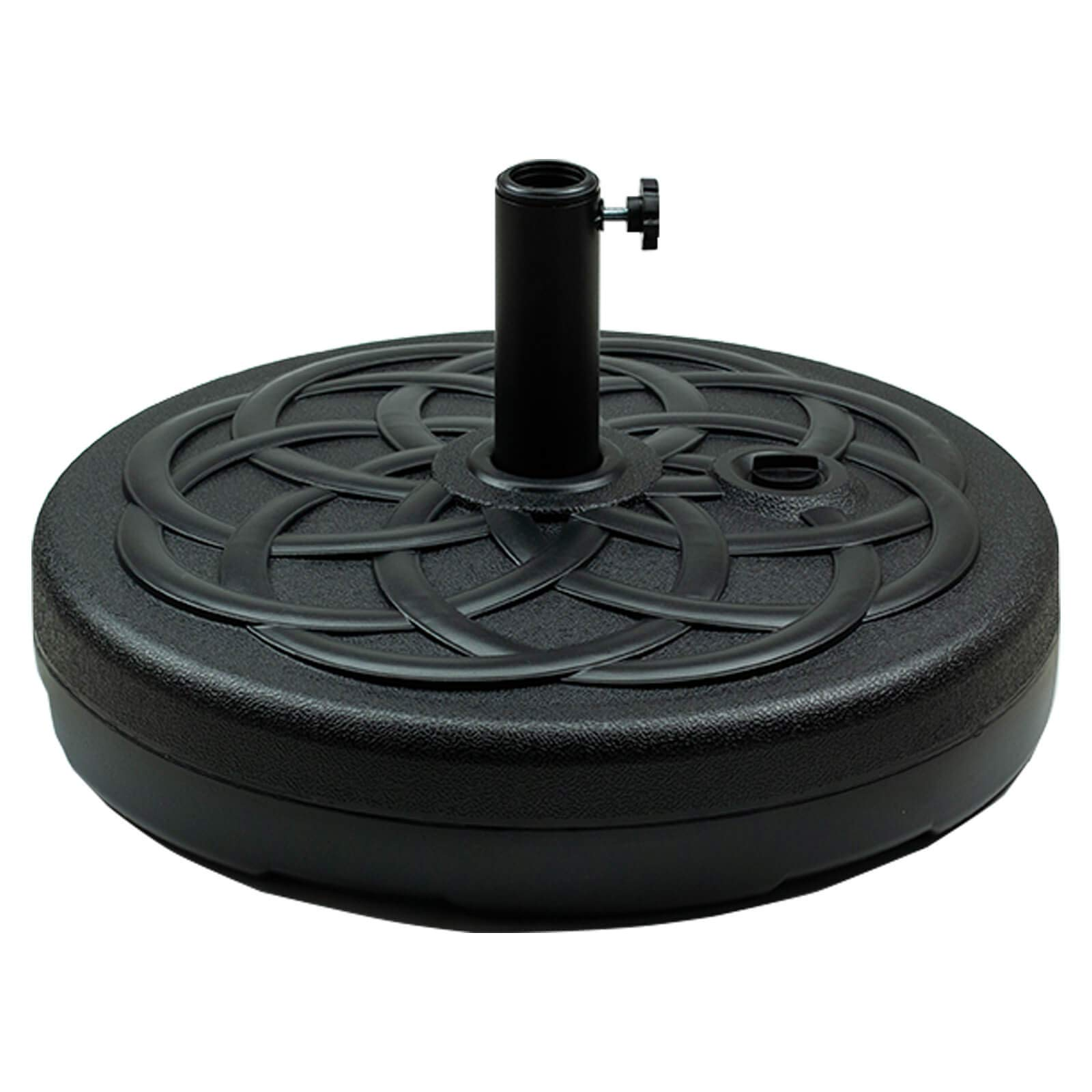 Orgrimmar Patio Umbrella Base 25.4L Heavy Duty Round Patio Umbrella Base Stand Water Filled Umbrella Base Stand for Outdoor