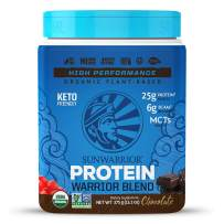 Sunwarrior Organic Vegan Protein Powder with BCAAs and Pea Protein (Warrior Blend - Chocolate, 15 Servings)
