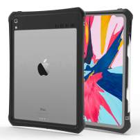 Co-Goldguard Case for iPad Pro 11 2018,Waterproof Case Built-in Screen Protector Rugged Support Pencil Charging Dust-Proof Shockproof Scratch-Resistant Kickstand Shell for iPad Pro 11 inch,Clear&Black