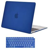 MOSISO MacBook Air 13 inch Case 2020 2019 2018 Release A2179 A1932 with Retina Display, Plastic Hard Shell Case & Keyboard Cover Only Compatible with MacBook Air 13 with Touch ID, Royal Blue