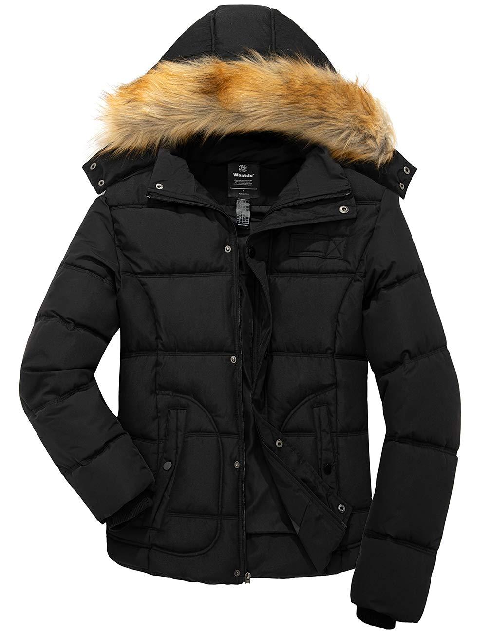Wantdo Men's Winter Puffer Jacket Thicken Winter Coat Warm Outwear with Hood
