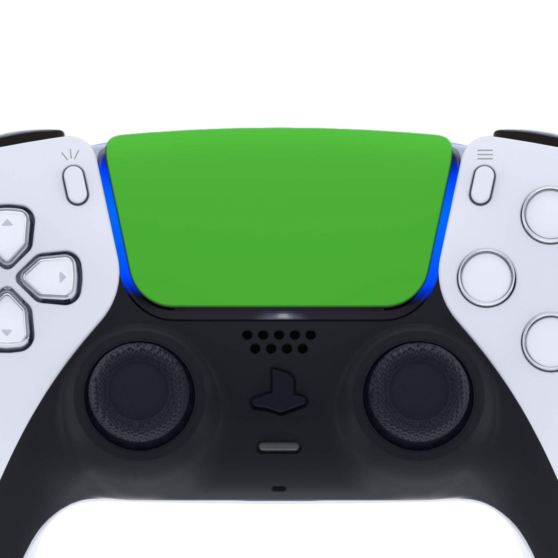 eXtremeRate Green Replacement Touchpad for PS5 Controller, Soft Touch Custom Part Touch Pad with Tool for DualSense 5 Controller - Controller NOT Included