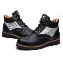 JITAI Men Pu Leather Lace-up Men Shoes Men Vintage British Boots Winter