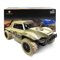 Gizmovine Remote Control Cars 4WD Large Size High Speed 15.5 MPH+ Racing Rc Cars Off Road for Kids, 2019 Version (Khaki)