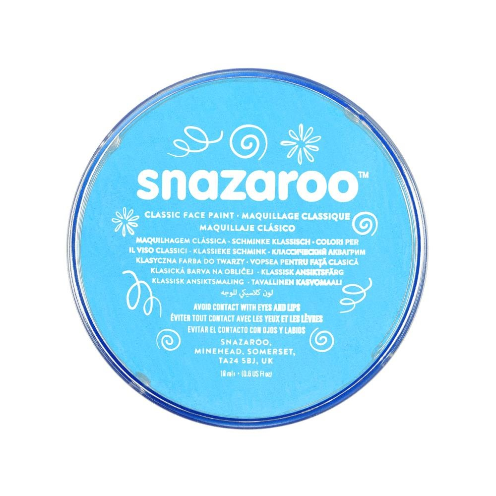 Snazaroo Classic Face and Body Paint, 18ml, Turquoise, 6 Fl Oz