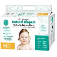 Little Toes Naturally Biodegradable Disposable Bamboo Fiber Diaper (Medium, 36 Count)