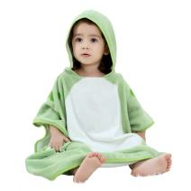 "IDGIRL Unisex Baby Cotton Bath Towels Ultra Soft Hooded Poncho for Toddler Swim Beach Bathrobes, 27.5×27.5"", Dinosaur"