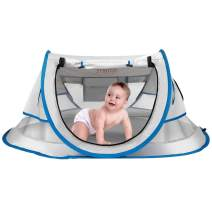 FITNATE Baby Beach Tent, Portable Baby Travel Tent UPF 50+ With Moisture-proof Pad Infant Sun Shelters Pop Up with Storage Bag,2 Pegs For Outdoor and Indoor Use