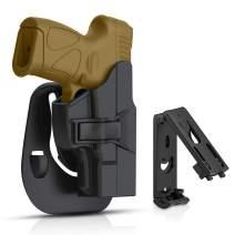 efluky Taurus Millennium G2 G2C PT111 OWB Paddle Holster for PT132 PT138 PT140 PT145 PT745 (not pro) Pistols, Trigger Release 60° Adjustable Cant, Right-Handed