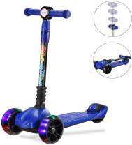 UHINOOS Kick Scooter for Toddler and Kids,Glide Scooter with 3 Wheel 4 Adjustable Height,Wide Deck PU Wheels Foldable Kids Scooter from 3 to 12 Years Old