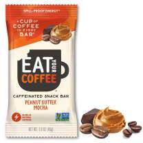 Energy Snacks, Contains 80mg Natural Caffeine = 8oz Cup of Coffee, Peanut Butter Mocha Flavor by Eat Your Coffee | High Caffeine Coffee Energy Bar, Vegan Coffee Replacement, Energy Bar Caffeine