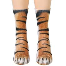 Animal Paws Socks,Novelty Animal Socks Crazy 3D Cat Dog Tiger Paw Socks Funny Gift for Men Women