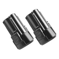 Bonadget 2000mAh RW9300 Replacement Battery Compatible with Rockwell 12V WA3504 WA3505 Crodless Tools Lithium-Tech Batteries (Black,2 Pack)