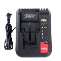 Lasica 20V Charger PCC692L PCC691L for Porter Cable 20V MAX Lithium Ion Battery PCC680L PCC681L PCC682L PCC685L PCC685LP PCC699L Black+Decker 20V MAX Lithium Battery LBXR20 LBXR2020 LB2X4020-OPE