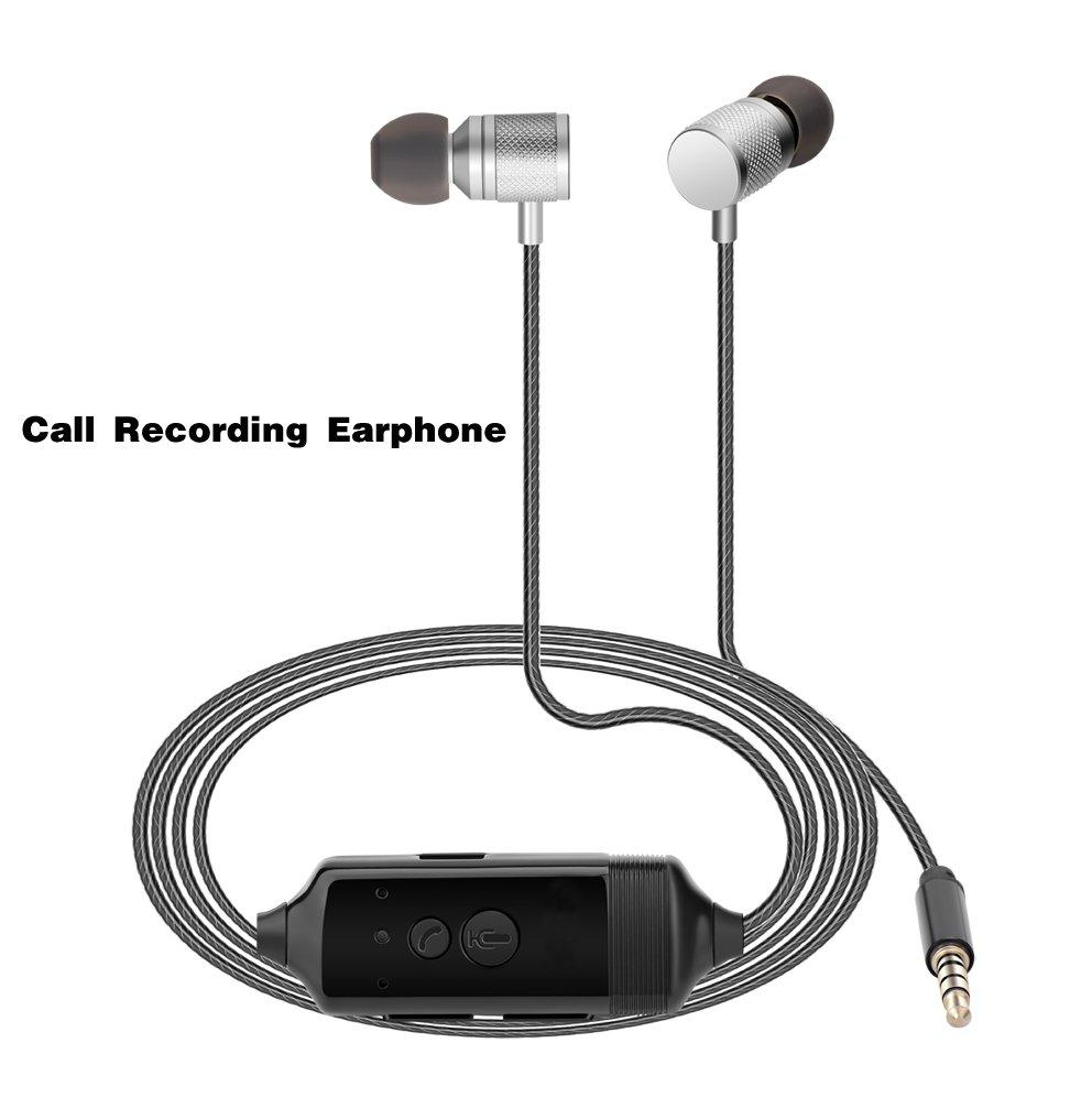 Fivoice Call Recording Earphone for iPhone Recording,Listen Music,Voice Recorder Pen,in-Ear Headphone,Need no Software, Voice Recorder or Jailbreak