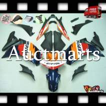 Auctmarts Injection Fairing Kit ABS Plastics Bodywork with FREE Bolt Kit for Honda CBR250R CBR 250 R 2011 2012 2013 2014 2015 Blue Orange Red White Repsol (P/N:1w9)